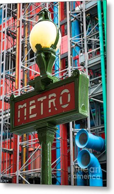 Paris Metro Metal Print by Inge Johnsson