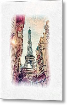 Paris Mon Amour Metal Print by Mo T