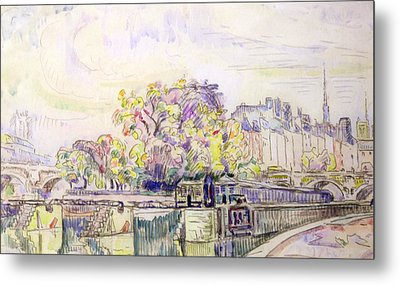 Paris Metal Print by Paul Signac