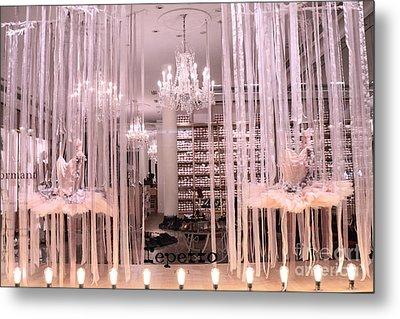 Paris Repetto Ballerina Tutu Shop - Paris Ballerina Dresses Window Display  Metal Print by Kathy Fornal