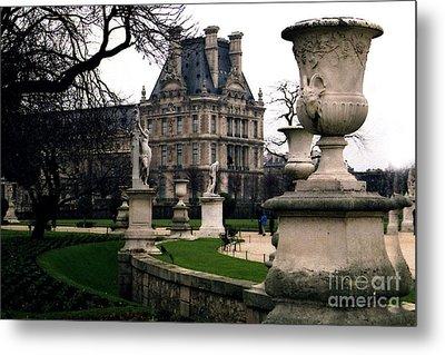 Paris Louvre Tuileries Park - Jardin Des Tuileries Garden - Paris Landmark Garden Sculpture Park Metal Print by Kathy Fornal