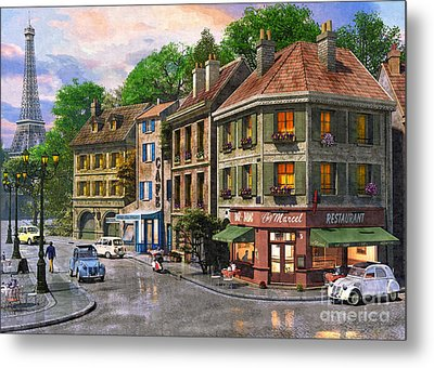 Paris Street Metal Print by Dominic Davison