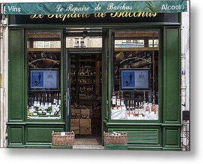 Paris Wine Store Metal Print by Georgia Fowler