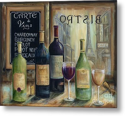 Paris Wine Tasting Metal Print by Marilyn Dunlap