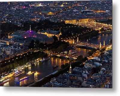 Parisian Night Metal Print by Maj Seda