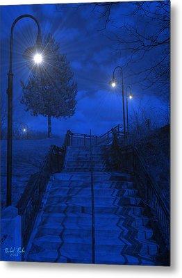 Park Stairs Metal Print by Michael Rucker