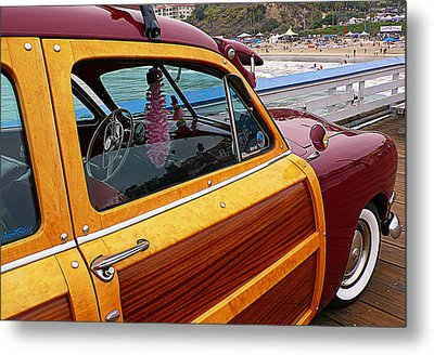 Parked On The Pier Metal Print by Ron Regalado