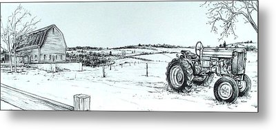 Parked Tractor  Metal Print by Scott Nelson