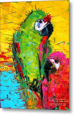 Parrot Lovers Metal Print by Mona Edulesco