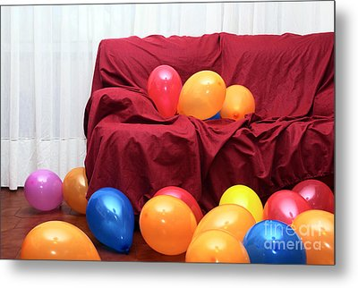 Party Balloons Metal Print by Carlos Caetano