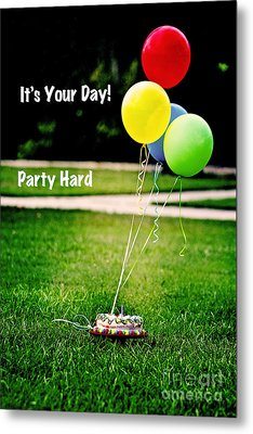 Party Hard Metal Print by Scott Pellegrin