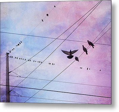 Party Line Metal Print by Amy Tyler
