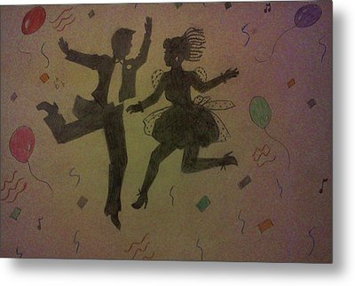 Party Silhouettes Metal Print by Christy Saunders Church