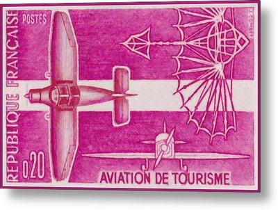 Passenger Plane Metal Print by Lanjee Chee