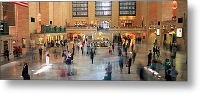 Passengers At A Railroad Station, Grand Metal Print by Panoramic Images
