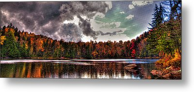 Passing Storm Over Cary Lake Metal Print by David Patterson