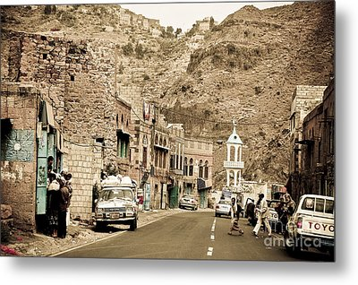 Passing Through A Village Metal Print by Charuhas Images