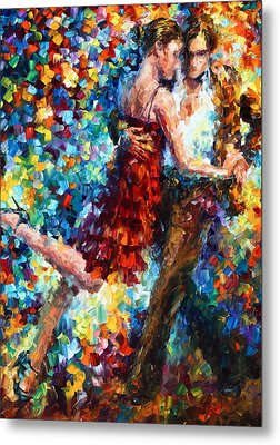 Passion Dancing Metal Print by Leonid Afremov