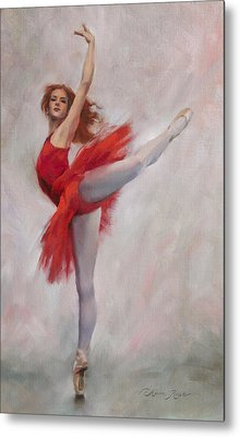 Passion In Red Metal Print by Anna Rose Bain