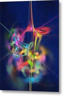 Passion Nectar - Circling The Flower Of Paradise Metal Print by Menega Sabidussi