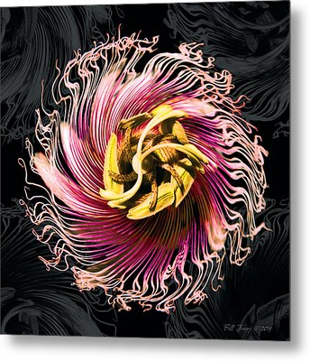 Passionfruit With A Twist Metal Print by Bill Jonas