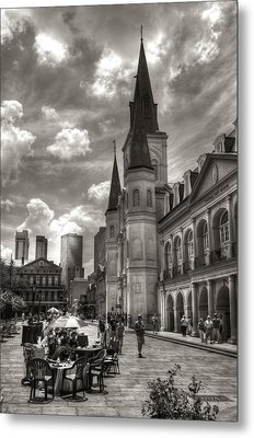 Past Present Future In Black And White Metal Print by Greg and Chrystal Mimbs