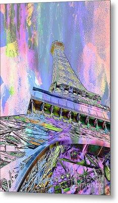 Pastel Tower Metal Print by Az Jackson