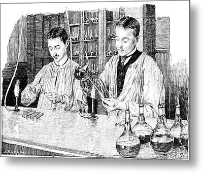 Pasteur Institute Vaccine Research, 1890 Metal Print by Science Photo Library