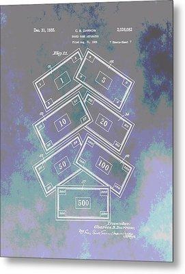 Patent Art Money Metal Print by Dan Sproul