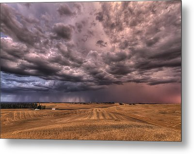 Path To The Storm Metal Print by Mark Kiver