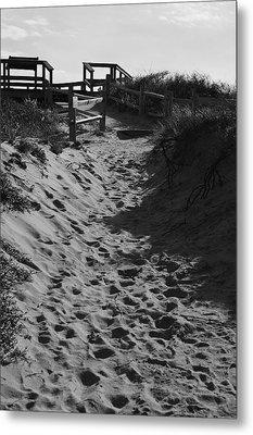 Pathway Through The Dunes Metal Print by Luke Moore