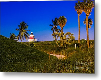 Pathway To The Beach Metal Print by Rene Triay Photography
