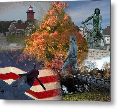Patriotic Massachusetts Metal Print by Jeff Folger
