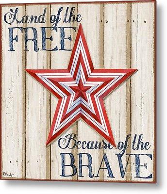 Patriotic Spirit Barn Star I Metal Print by Paul Brent