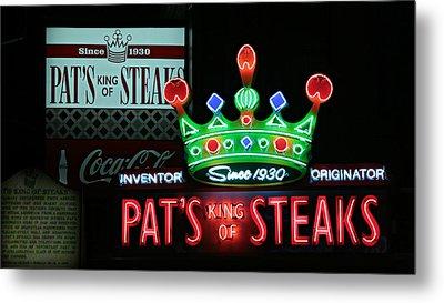 Pat's King Of Steaks Metal Print by Stephen Stookey
