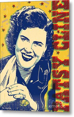 Patsy Cline Pop Art Metal Print by Jim Zahniser