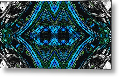 Patterned Art Prints - Cool Change - By Sharon Cummings Metal Print by Sharon Cummings