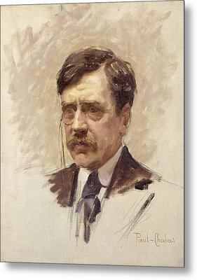 Paul Bourget  Metal Print by Paul Chabas