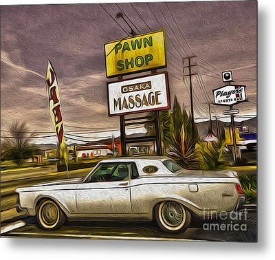 Pawn - Pool - Massage Metal Print by Gregory Dyer