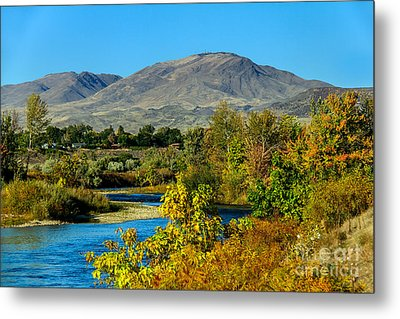 Payette River And Squaw Butte Metal Print by Robert Bales