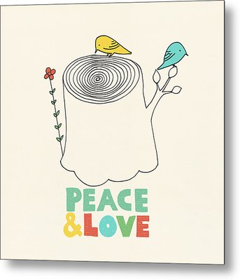 Peace And Love Metal Print by Eric Fan