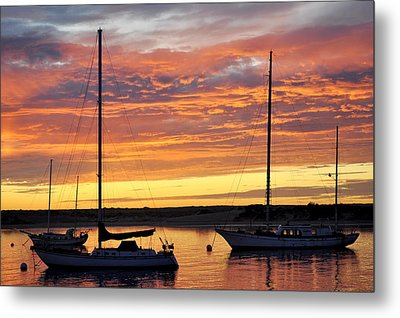 Peace At Days End Metal Print by AJ  Schibig