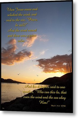 Peace Be Still Metal Print by Glenn McCarthy Art and Photography