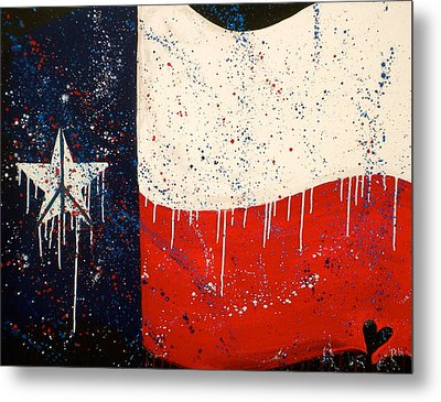 Peace Love And Texas Metal Print by Debi Starr