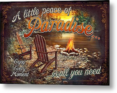 Peace Of Paradise Metal Print by JQ Licensing