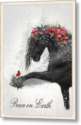 Peace On Earth Metal Print by Fran J Scott