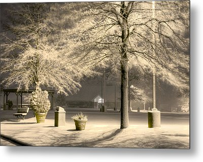 Peaceful Blizzard Metal Print by JC Findley