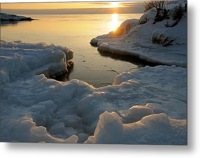 Peaceful Moment On Lake Superior Metal Print by Sandra Updyke