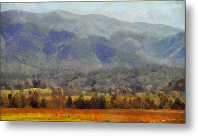 Peaceful Morning In The Smoky Mountains Metal Print by Dan Sproul