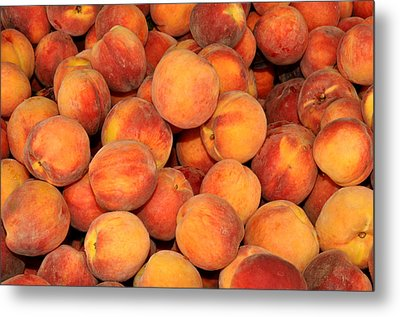 Peaches Metal Print by Diane Lent